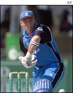 Nasser Hussain playing in Zimbabwe