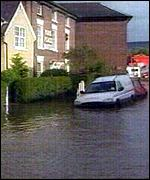 Floods in Ruthin in 2000