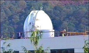 The dome for the robotic telescope.