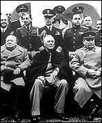 1945 Yalta Conference: Churchill, Roosevelt and Stalin