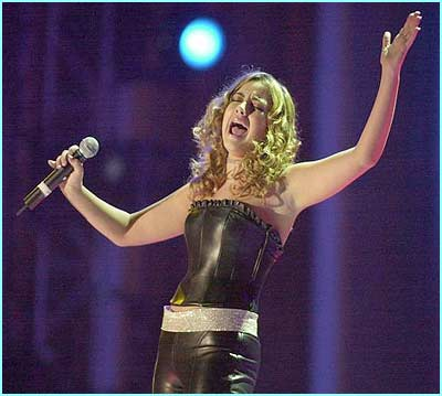 Charlotte Church was singing in her home country.