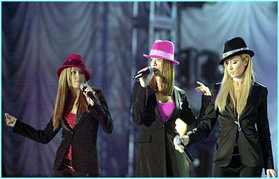 Atomic Kitten performed a song from Cats.