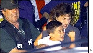 Elian Gonzalez is taken from his Miami home