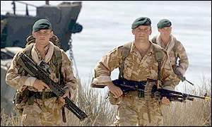 British Commando Marines on exercise