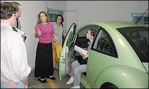 Members check out VW Beetle