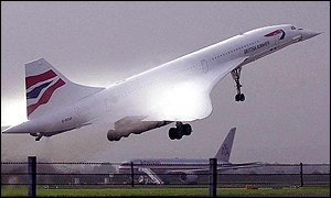 Concorde takes off