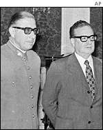 General Augusto Pinochet with President Salvador Allende
