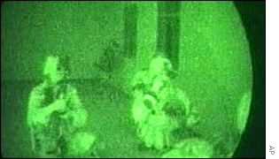 This image from a US Defence Department video shows US special forces in Afghanistan