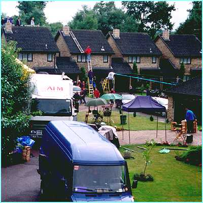 The film crew took over the whole street and turned it into Privet Drive