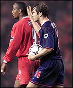 Two former Liverpool colleagues Paul Ince and Jason McAteer