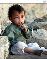 Afghan refugee child