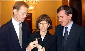 Nicholas Serota, Jane Glaister and Neil MacGregor
