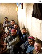 Taleban fighters taken prisoner by the Northern Alliance this year