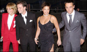 Ant and Dec arrive with their partners at the awards