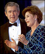 George Bush and wife