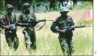 Nigerian soldiers on peacekeeping mission in Sierra Leone