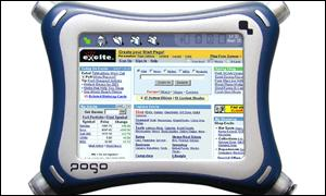 The Pogo handheld phone, music player and web browser
