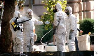 Anthrax inspectors on Capitol Hill