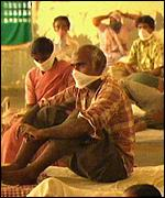 Victims of pneumonic plague, India