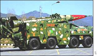 Shaheen I missile on parade in Pakistan