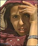 Refugee girl in southern Afghanistan