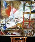 Paris Through A Window (1913), by Marc Chagall, from the Solomon R. Guggenheim Museum, New York