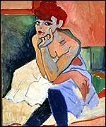 Woman in a Chemise by Andre Derain, from Statens Museum for Kunst, Copenhagen