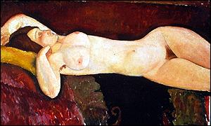 Reclining Nude (1919) by Amadeo Modigliani from the Museum of Modern Art, New York