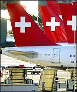 Swiss Air fleet remained grounded at airports around the world for several days