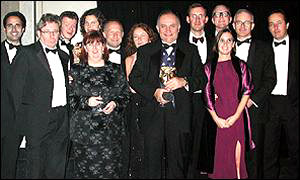 BBC News Online representatives at Bafta awards ceremony, BBC