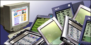 Selection of personal and handheld computers
