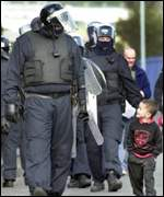Police have escorted the children each day
