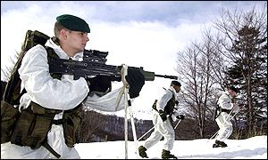 Marines training in Norway
