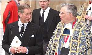 The Prince of Wales and the Dean of Westminster were among those at the service