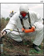Testing levels of radioactivity near Chernobyl