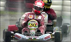 Michael Schumacher in action