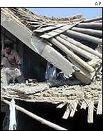 A house destroyed in Kabul