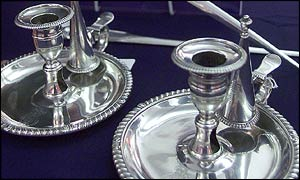The silver candlesticks withdrawn from sale