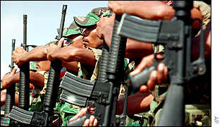 Soldiers from East Timor's Defence Force (ETDF)