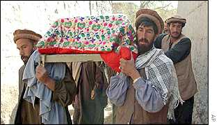 Afghans bury their dead after errors in US strikes caused civilian casualties