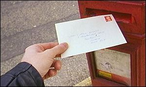Letter and post box, BBC