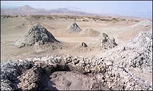 Azeri mud volcanoes, BBC