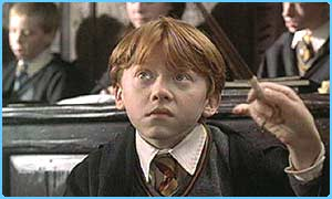 Rupert as Ron Weasley in the film