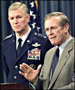 Joint Chiefs chairman Richard Myers and Defence Secretary Donald Rumsfeld