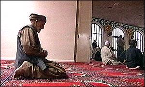 Prayers in Luton's Central Mosque