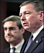 Attorney General John Ashcroft and FBI Director Robert Mueller