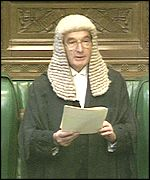 Lord Weatherill when he was Commons Speaker