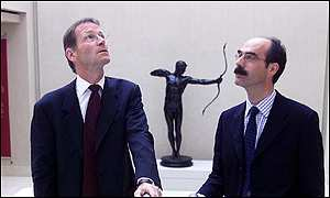Sir Nicholas Serota with Tate Britain Director Stephen Deuchar