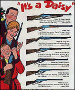 Nostalgic Daisy air rifle advert