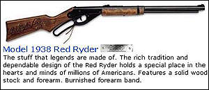 Adverts for Daisy Red Ryder air rifle
